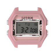Boîte de montre IAM medium polycarbonate rose