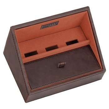 Plateau empilable valet stacker, Module1 Mini marron-orange, Base de charge