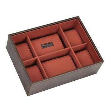 Boite 8 montres stackers empilable, Module2 marron-orange