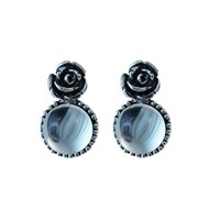 Boucles d'oreilles Clous  ROSITA, Made in France