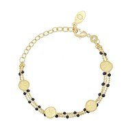 Bracelet COLLECTION CONSTANCE OLYMPE Email noir plaqué or