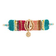 Bracelet fin ajustable tissage coquillage KEYWEST