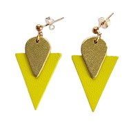 CLOUS D'OREILLE TRIANGLE JAUNE